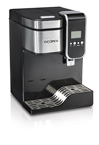 Hamilton Beach single-serve cafetera eléctrica programable, FlexBrew con dispensador de agua caliente (