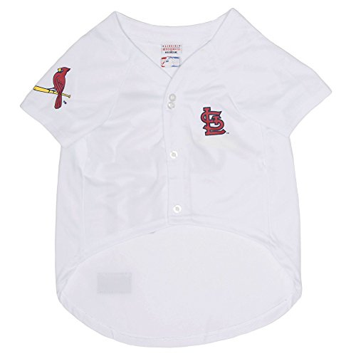 Pets First MLB St. Louis Cardinals Dog Jersey, Small (Unique St Louis Gifts)