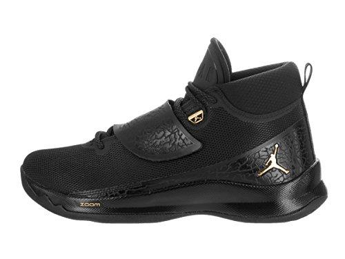 Jordan, Uomo, Jordan Super.Fly 5 PO, Mesh / Pelle, Sneakers Alte, Nero, 44.5 EU