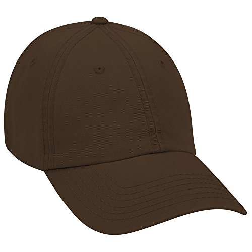- OTTO Garment Washed Superior Cotton Twill 6 Panel Low Profile Dad Hat - Dk. Brown
