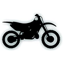 Motorcycle Decal For CR250 Honda Dirt Bike Motocross Trail Rider Window Or Trailer 10 1/2 x 6 1/4 Inch BLACK