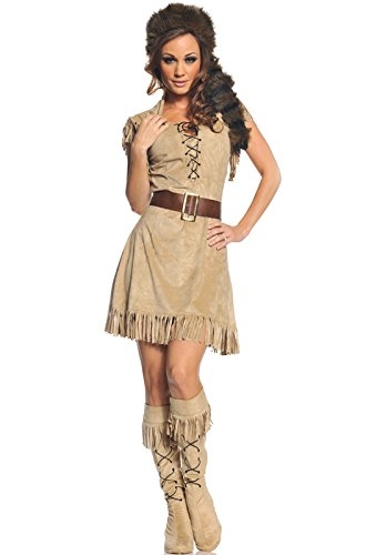 Wild Frontier Adult Costume (Brown;X-Large) (Sexy Hunter Costume)