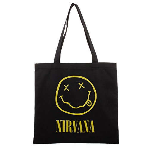 Nirvana Smiley Face Logo Canvas Tote Bag