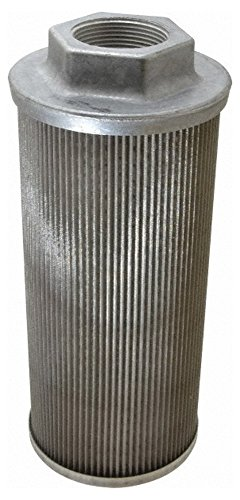 "100 Mesh, 189 LPM, 50 GPM, 4.3"" Diam, Female Suction Strainer without Bypass, 1-1/2 Port NPT, 9.8"" Long -  Flow Ezy Filters"