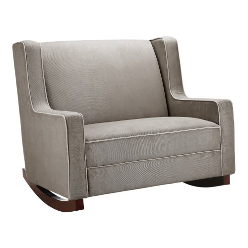 Baby Relax Double Rocker, Dark Taupe Nursery Rocker