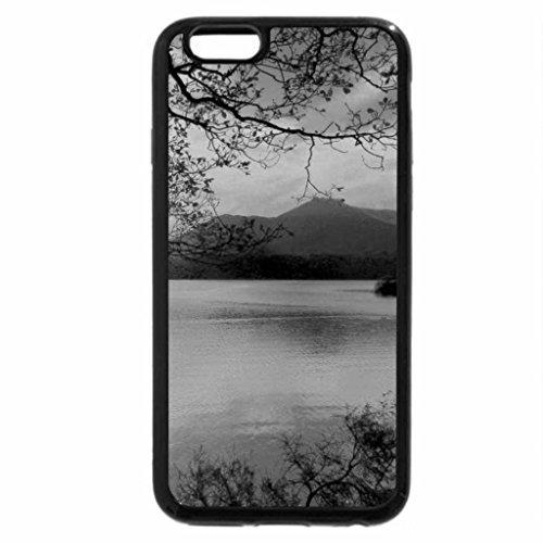 iPhone 6S Plus Case, iPhone 6 Plus Case (Black & White) - Landscape with a Sunset