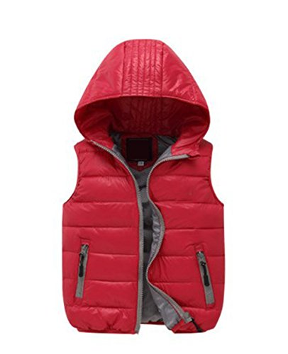 Lemonkids;® Hooded Chic Vest Red Lightweight Wadded Kids Children Winter Jacket rwIxtq0wT