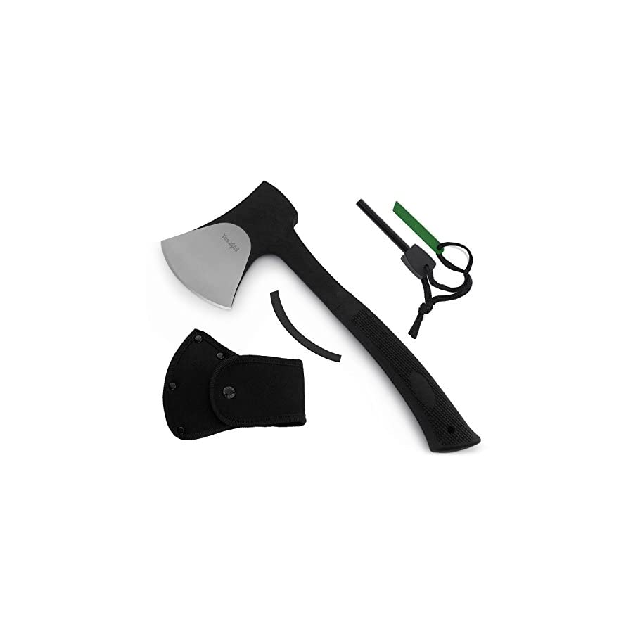 Yes4All Outdoor Camping Axe with Sheath + Fire Starter (Optional: Combo with Knife)