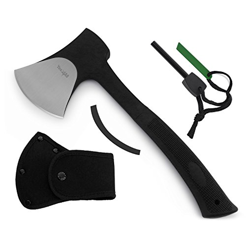 Yes4All-Outdoor-Camping-Hunting-Survival-Steel-Multi-Functional-Axe-w-Sheath-H105