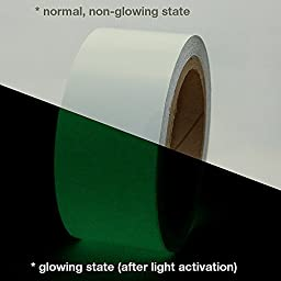 JVCC GLW Glow in the Dark Tape: 2 in. x 30 ft. (Luminescent Lime Green)