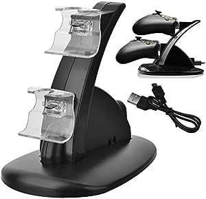 Carregador Duplo P/ 2 Controle Xbox One Base Suporte Preto