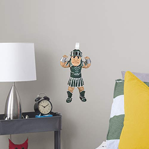 FATHEAD NCAA Michigan State Spartans MSU Sparty- Officially Licensed Removal Wall Decal, Multicolor, - Wall Spartans Michigan State