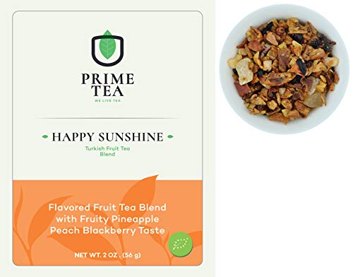TURKISH FRUIT TEA - 2 Ounce ≈ 20-30 Servings - Organic Vegan Natural Caffeine Free Loose Leaf Tisane Super Delicious Fruity Mix - Aroma Blast - Hot and Iced -
