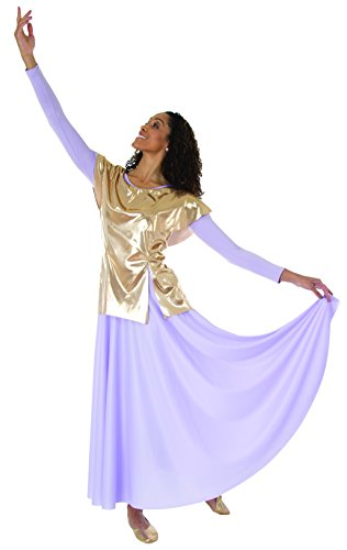 Body Wrappers Pullover - Metallic Tunic Pullover -SILVER-1214