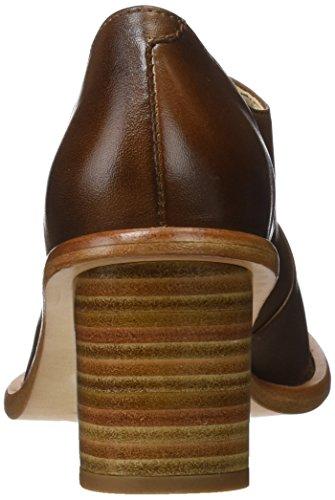 Zapatos Para cuero Cuero Tacón Skin Marrón Punta Neosens Restored Cerrada Con De Mujer qTPE8fw