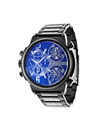 Police PL13595JSB/61MA Men's Python Analog-Quartz Grey Dial Multifunction Watch with 2 Hands