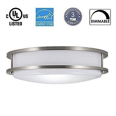12'' LED Flush Mount Ceiling Light Dimmable,Dott Arts 35W(160W Equivalent),1050LM, 3000K Warm White, LED Ceiling Light for Living Room, Dining Room with ENERGY STAR,ETL & DLC Listed