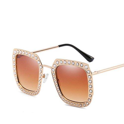Aoligei Mode Diamond Retro lunettes de soleil Chao Men rue battre metal lunettes de soleil lunettes de soleil oGZWPQZ3Y