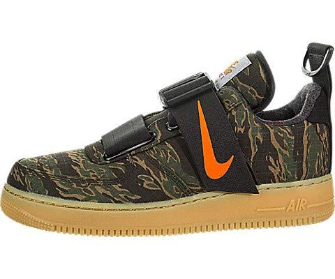 Nike Men's Air Force 1 UT Low PRM WIP Camo Green/Total Orange Basketball Shoe 10.5 Men US