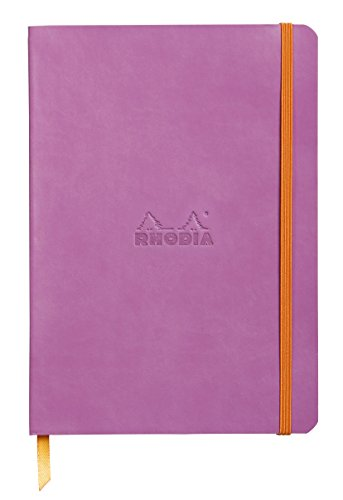 Rhodiarama Dotted Leather SoftCover Notebook - Lilac Purple