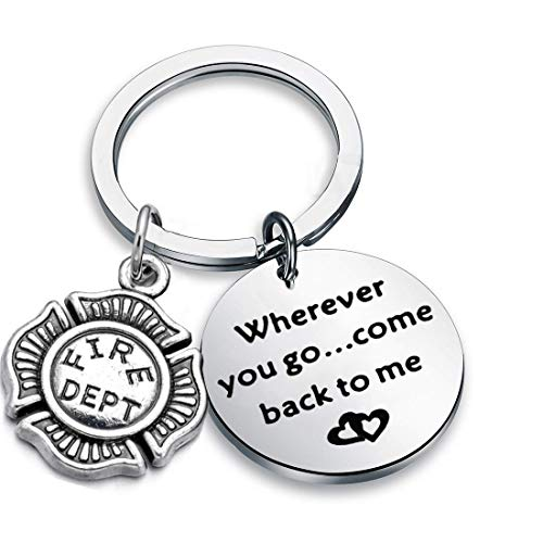 (AKTAP Wherever You Go Come Back to Me Graduation Gift Dad Husband Gift Key Ring Deploying Partner Boyfriend Girlfriend Husband Wife Gifts)