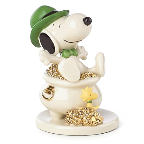 (Lenox Peanuts Lucky Leprechaun Irish Snoopy Figurine St Patrick's Day Pot Of Gold)