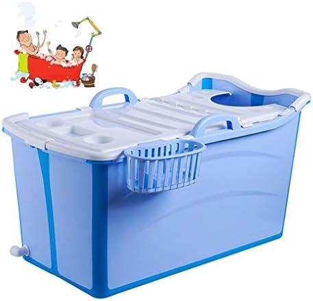 折りたたみバスタブ GYF 折りたたみバスタブ新生児用浴槽 ベビータブ 折りたたみ式バスタブ 子供用バスタブ 環境を守ること 滑り止め 強い耐荷重 90x42x50cm (Color : Blue)
