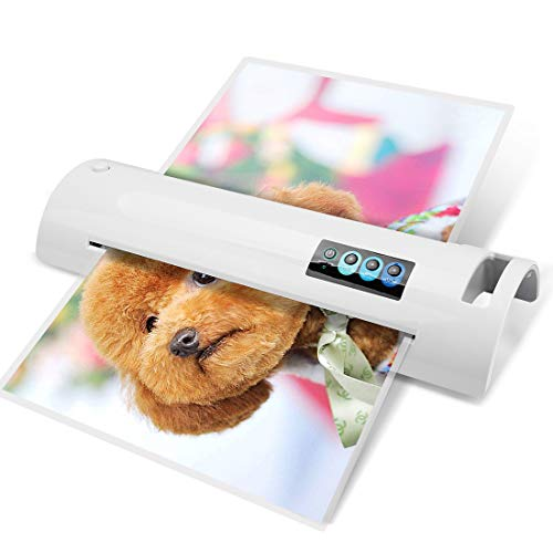 (13'' Lminator Machine, A3/A4/A6 Lminator, Thermal Laminator with Jam-Release Switch, Fast Warm-up and Quick Laminating Speed for Home, Office and School (A3 laminator-White))