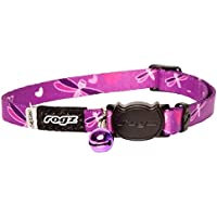 Rogz Kiddycat Safeloc Collar, Purple, X-Small