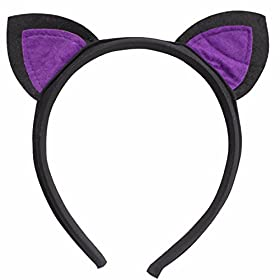 - 41SMcnsTFjL - FEESHOW Kids Girls Bat Wings Halloween Costume Cosplay Outfit with Cat Ear Headband Set