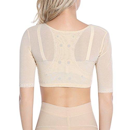 c5a5defcc0262 Shymay Women s Shapewear Tops Wear Your Own Bra Short Sleeve Slim ...