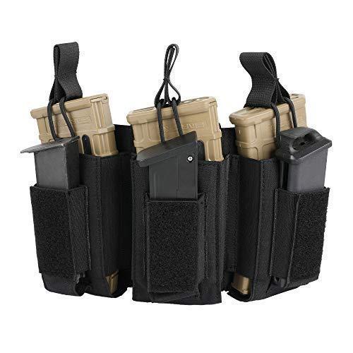 - EXCELLENT ELITE SPANKER Open-Top Single/Double/Triple Mag Pouch for M4 M16 AK AR Magazines and Pistol Mag Pouch(BLK)