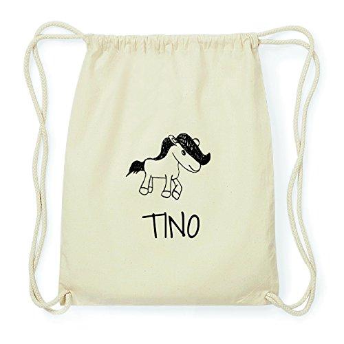 JOllipets TINO Hipster Turnbeutel Tasche Rucksack aus Baumwolle Design: Pony