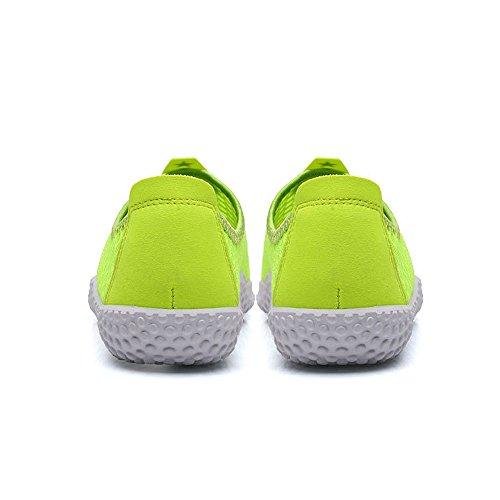 Advogue Aqua Walker Malla resbalón en los Zapatos de Agua,Zapatillas Deportivas de agua Unisex Verde