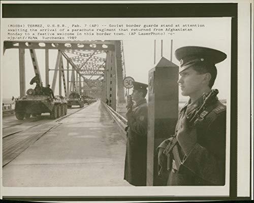 (Vintage photo of Soviet border guards)
