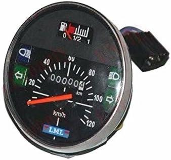 Enfield County negro cara Vespa Scooter Color Blanco Cara 120/km//h veloc/ímetro PX Lusso LML