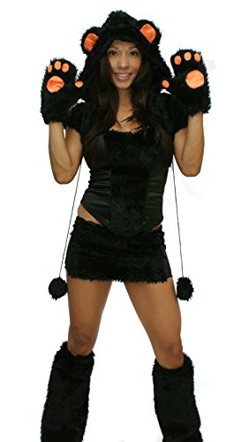 Sexy Teddy Bear Costumes - Sexitu Sexy Furry Black Bear Halloween Costume (Small)