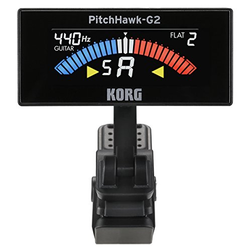 Korg AW3G2BK PitchHawk G2 Clip-On Guitar Tuner, Black