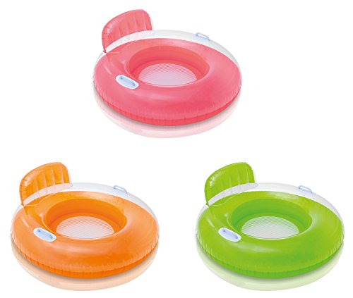 Intex Inflatable Candy Color Floating Pool Tube Raft Lounges (3-pack)