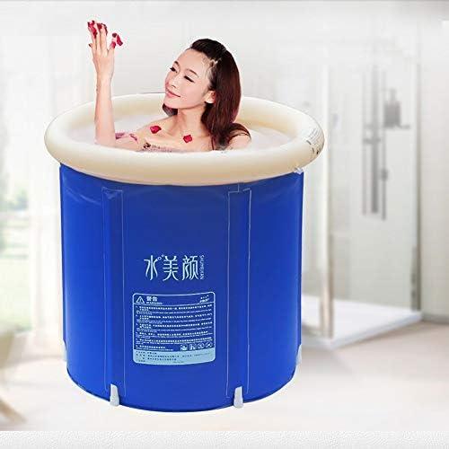 Pumpnnk 折りたたみ浴槽風呂バレル大人タブインフレータブルバス盆地樽バレルバケツポータブルプール肥厚大型プラスチックシート浴場浴槽ホームは、バスタブを膨らま (サイズ : 75*70*65)