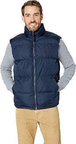 U.S. Polo Assn. Men's Signature Bubble Vest, Classic Navy 9089, XL