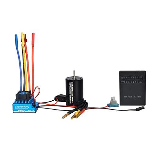 Hatop- BL3650 3900KV Brushless Motor+45/60/80/120A Brushless ESC + Program Card Combo Removable