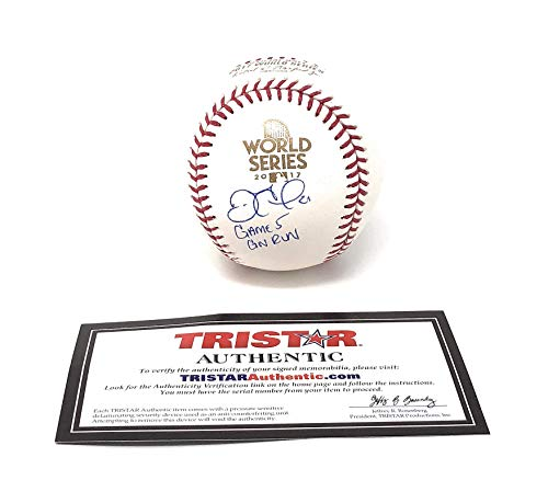 Astros Signed Autograph Official MLB World Series Baseball Inscribed Game 5 GW Run Limited Edition Tristar Authentic Certified ()