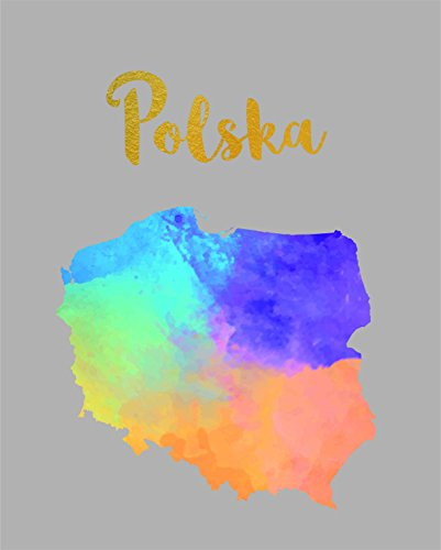 Poland Map Watercolor Polish POSTER A3 Print Polska Home Decor Products House Decorations Decal UNFRAMED Gifts