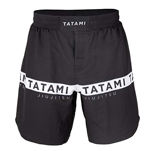 TATAMI Adults Black Original Grapple Fit Grappling Fight Shorts (Large)