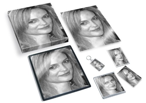 HEATHER GRAHAM - Original Art Gift Set #js007 (Includes - A4 Canvas - A4 Print - Coaster - Fridge Magnet - Keyring - Mouse Mat - Sketch Card)