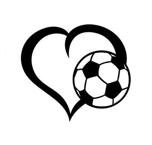CCI Soccer Love Decal Vinyl Sticker|Cars Trucks Vans Walls Laptop| Black |5.5 x 5 in|CCI1487