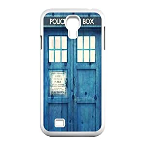 J-LV-F Customized Doctor Who TARDIS Police Call Box Pattern Protective Case Cover for Samsung Galaxy S4 I9500