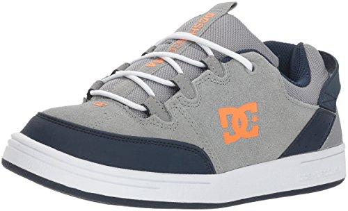 - DC Boys' Syntax Skate Shoe, Grey/Blue, 3 M US Little Kid