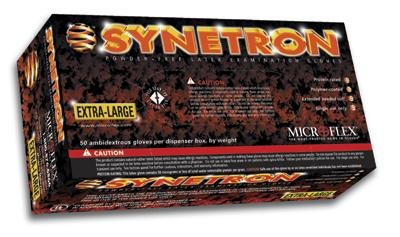 50//Bx Extra Large Microflex Synetron Powder Free Latex Gloves